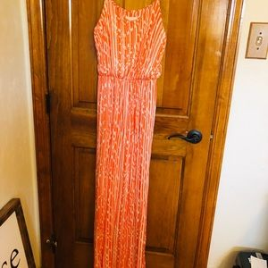 Women's maxi dress orange size L
